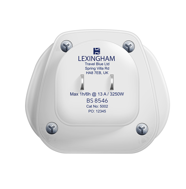 UK to US adaptor lexingham 5002