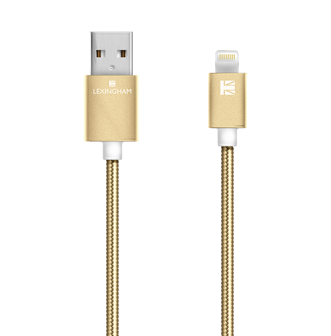 lightning sync charge cable gold 5740 lexingham