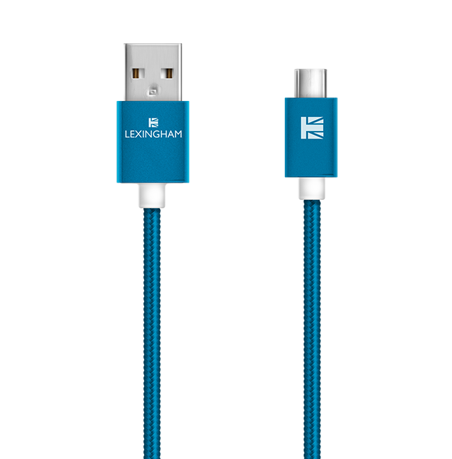 micro USB sync charge cable 5750 lexingham blue