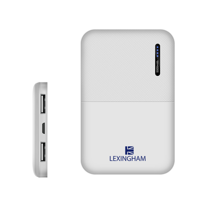 Power Bank 5000 2 port 2.1A 5900 lexingham