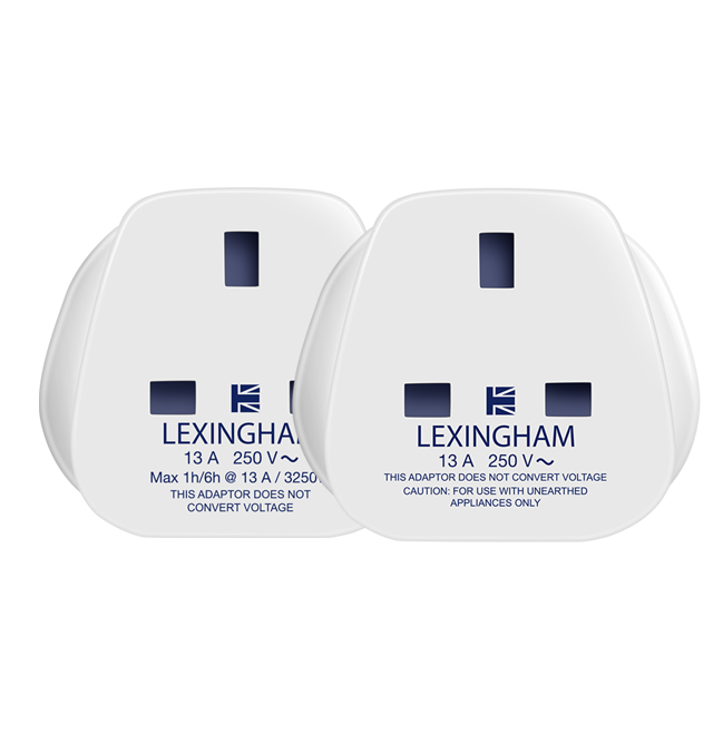 Set of travel adaptors UK to EU USA lexingham 5006