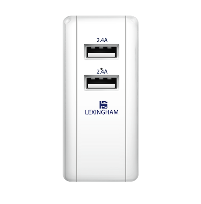 wall charger 2 ports europe 5740 lexingham front