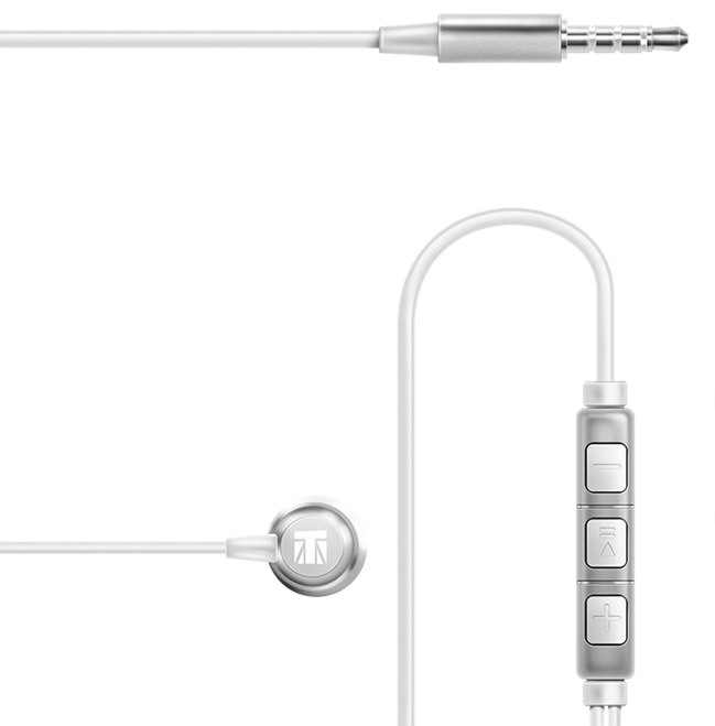 premium build earphones with in-line microphone and remote control