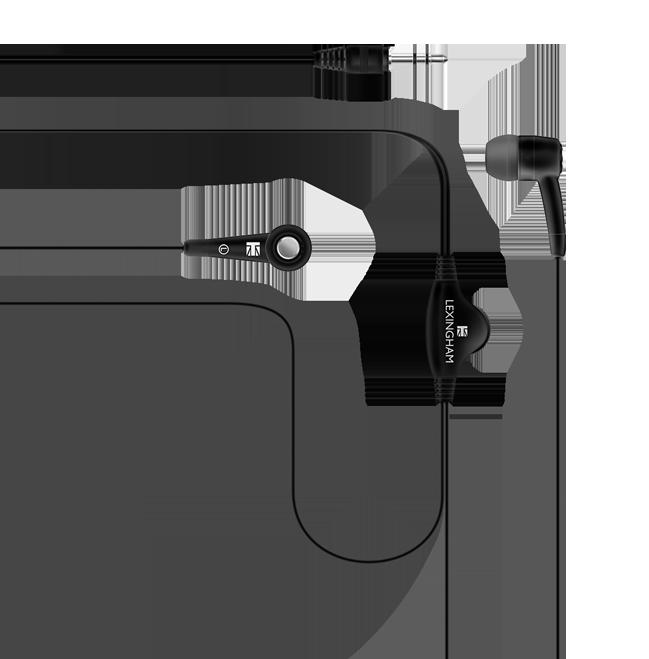 stereo volume control earphone black 5201
